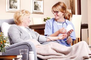 a woman has respite care for seniors
